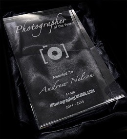 photographer of the year with iPhotography - trophy