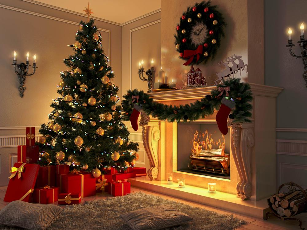 warm lighting at home christmas decoration