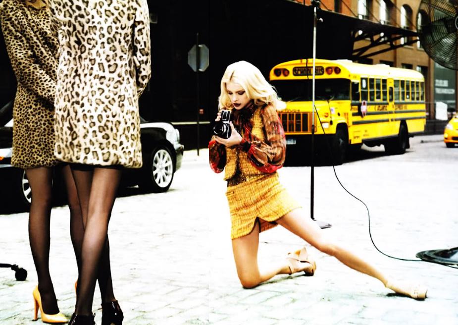 International Women's Day Photography Ellen Von Unwerth street knees camera