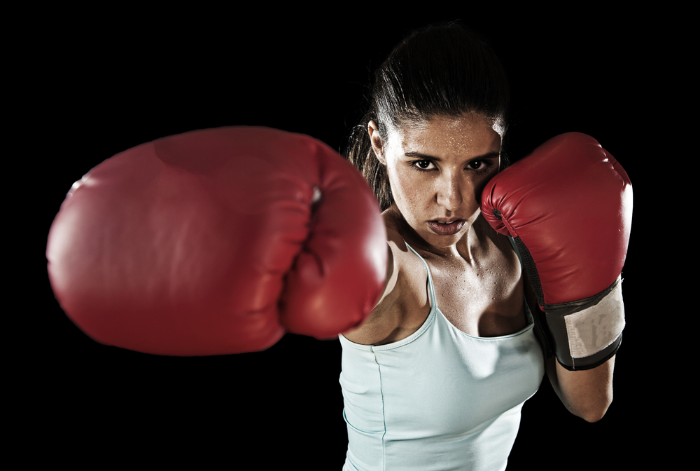 International Women's Day Photography boxer lady
