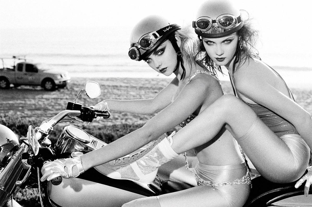 International Women's Day Photography Ellen Von Unwerth female fashion helmet motorcycle
