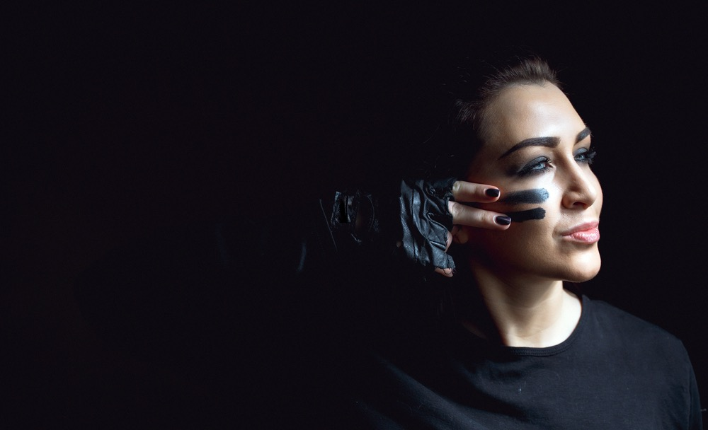 International Women's Day Photography face paint black