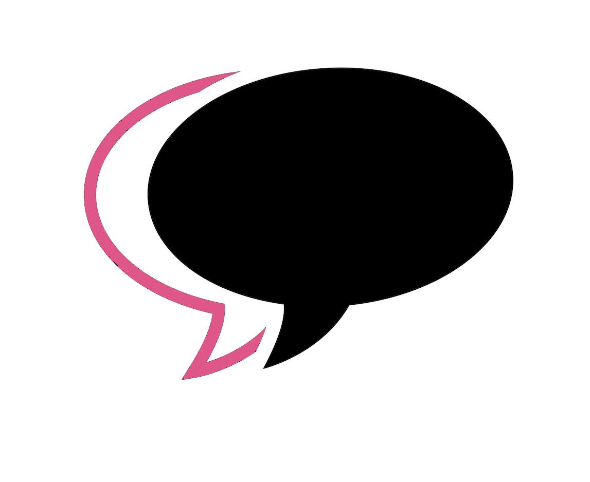 International Women's Day Photography speech bubble black pink talking