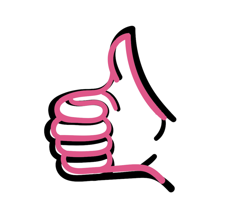 International Women's Day Photography thumbs up hand