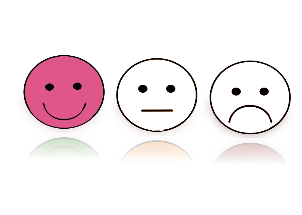 International Women's Day Photography 3 emoji faces pink white happy sad indifferent
