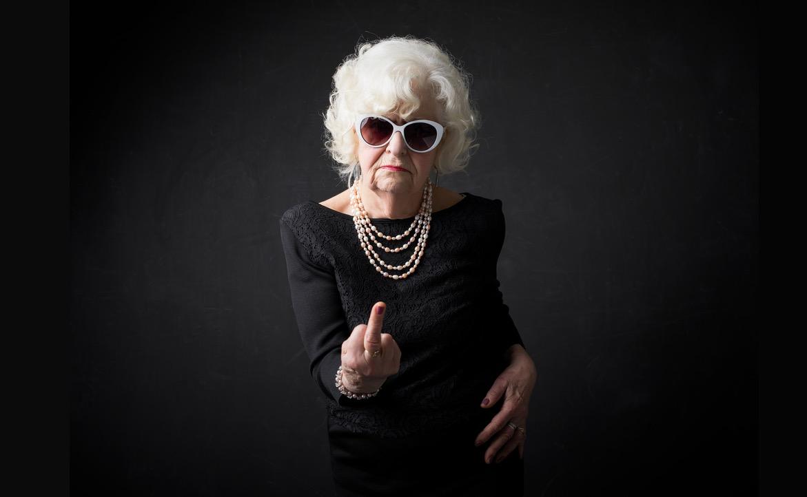 International Women's Day Photography sunglasses older lady