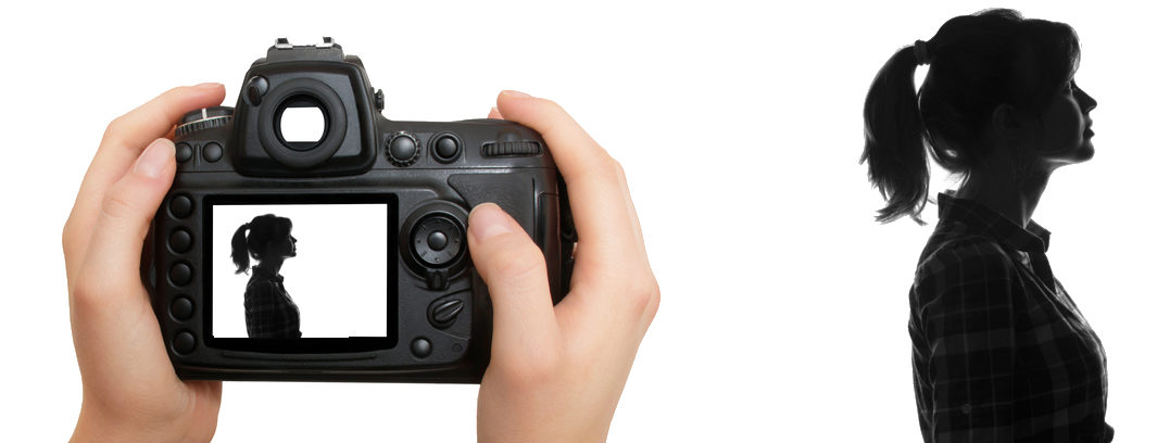 iphotography multiple exposure camera screen profile portrait